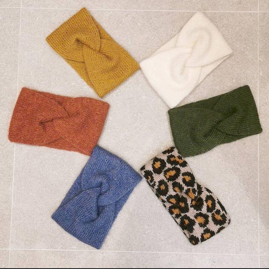 Bilde av strikket pannebånd